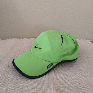 Women's Nike lime green feather-light adjustable h